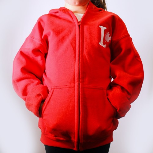 Youth Zip Up_red